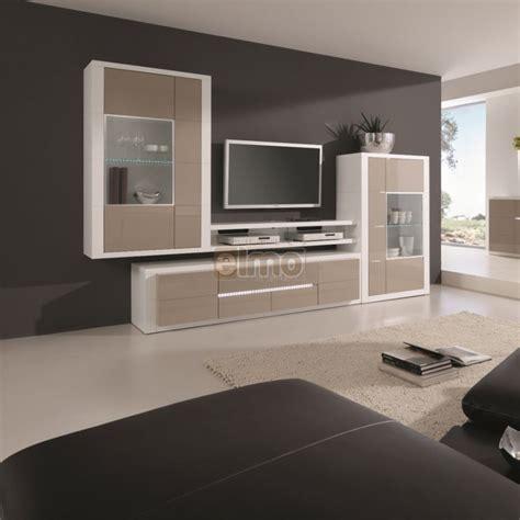 canapé tiroir lit living meuble tv moderne laque bicolore éclairages