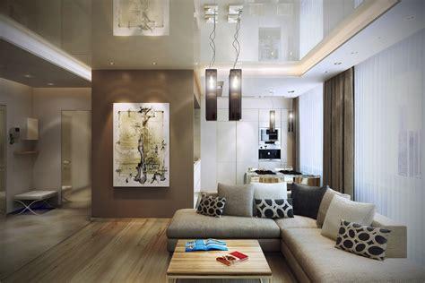 Brown Livingroom Brown Open Living Room Interior Design Ideas