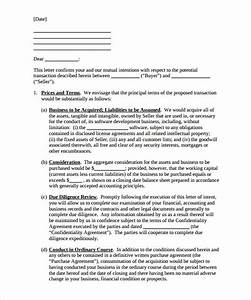 12 purchase letter of intent templates free sample With letter of intent to buy a business template
