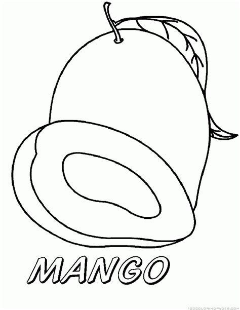 Coloring Mango by Mango Coloring Pages Part 2
