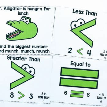Greater Than Less Than Task Cards by Adventures in Kinder and Beyond