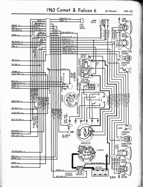 Ford Comet Falcon Cylinder Wiring Diagram