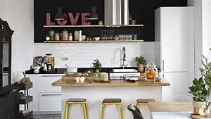 Petit Ilot Central Cuisine : cuisine avec ilot le bois chez vous ~ Teatrodelosmanantiales.com Idées de Décoration