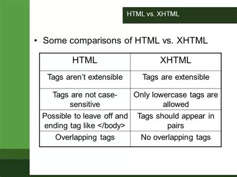 what is the difference between xhtml and html quora