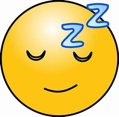 Sleepy Tired Face Clipart Sleep Smiley Cartoon