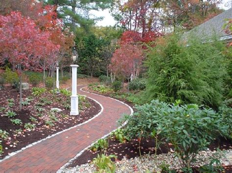 landscaping ideas walkways and paths brick walkway leominster ma photo gallery landscaping network