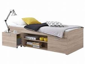 Einzelbett Mit Stauraum : lit 90x200 cm carlo vente de lit enfant conforama ~ Michelbontemps.com Haus und Dekorationen
