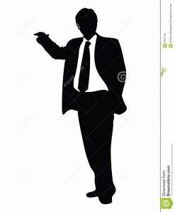 Business Man Display Silhouette Stock Photo - Image: 5537170