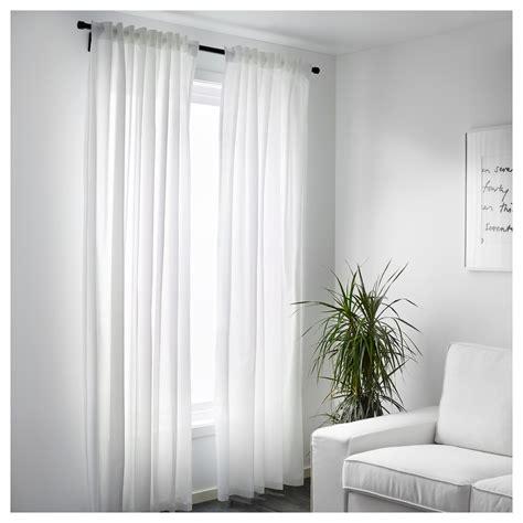 Vivan Curtains, 1 Pair White 145 X 250 Cm Ikea