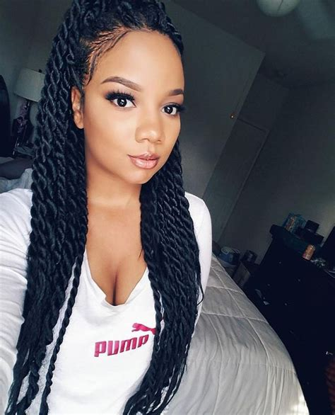 Image Result For Senegalese Twist Medium Length  Hair In