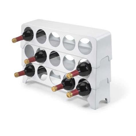 cuisine range bouteille rangement 5 bouteilles superposable blanc 40x17 achat vente range bouteille rangement 5
