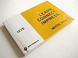 Motorola Nextell I275 Instruction Manual Guidebook Vintage