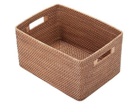 Basket Storage by Storage Baskets With Handle Rattan Belly Basket