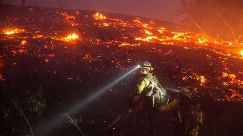 dramatic scenes  washington state wildfire abc news