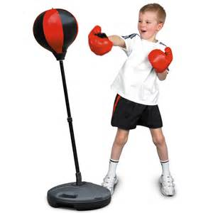 Youth Punching Bag With Stand by Freestanding Speedball Boxing Gloves Punch Bag Speed Ball