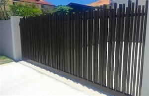 Portail Alu Coulissant : portail alu coulissant noir portail ~ Edinachiropracticcenter.com Idées de Décoration