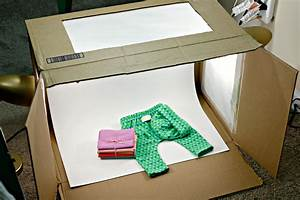 DIY Photography Light Box from a Cardboard Box, Walmart LED Desk Lamps – Sewing Report