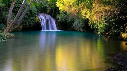 Earth Waterfall Nature Trees Lake Around Wallpapers