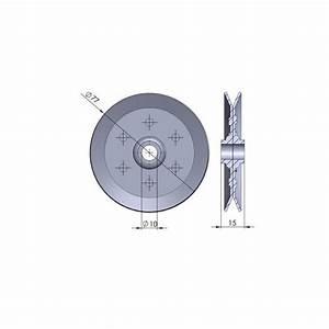 poulie a roulement a bille diametre 70 mm simple gorge With poulie porte de garage