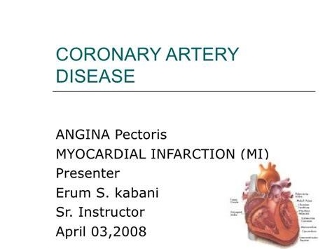 coronary artery disease cvs  es