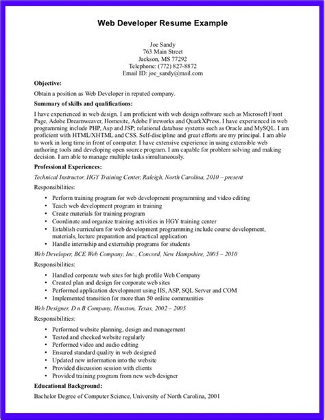 computer science fresher resume template great resumes