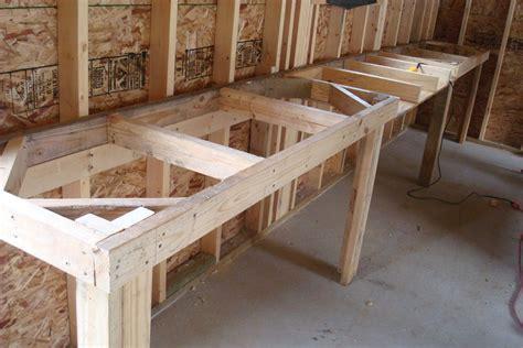 bench design garage workbench  drawers plans