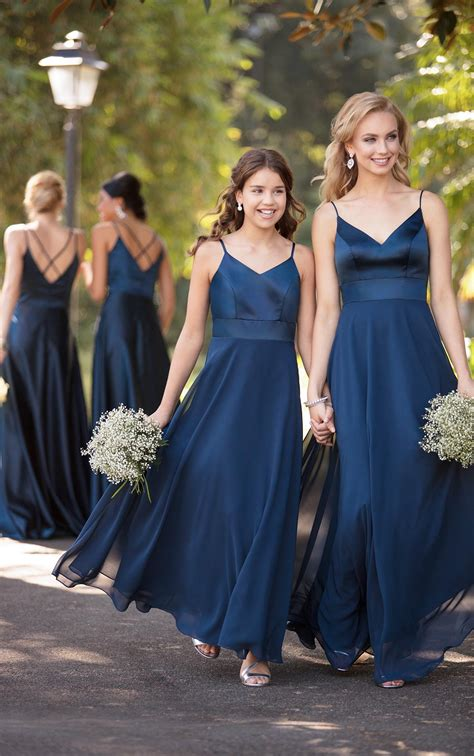 modern satin bridesmaid dress sorella vita bridesmaid