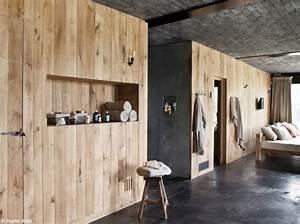 tendance le bois habille nos murs elle decoration With planche de bois pour mur interieur