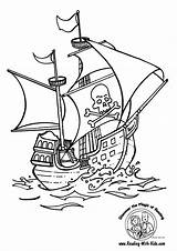 Pirate Coloring Pages Boys sketch template