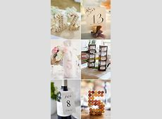51 Creative DIY Wedding Table Number Ideas Deer Pearl