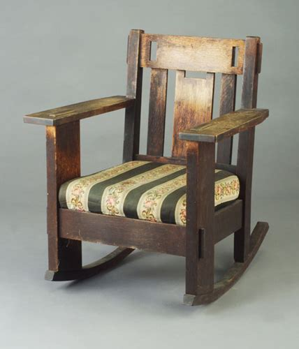 charles stickley rocking chair charles stickley rocker with open arms and 611968