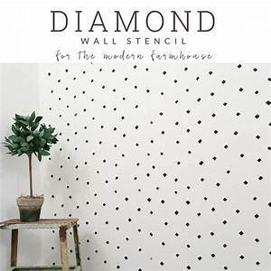 Black And White Diamond Pattern Accent Wall For The Farmhouse