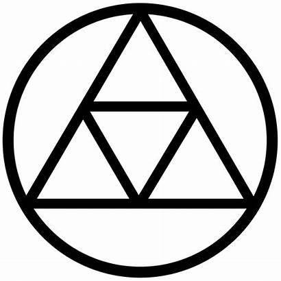 Triforce Symbol Curse Outline Seal Zelda Coloring