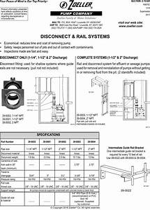 552139 1 Zoeller Z Rail Disconnect System Manual
