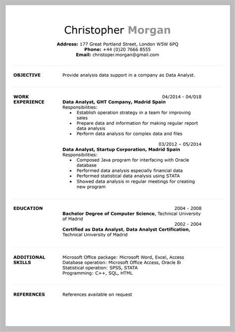 cv templates  word document