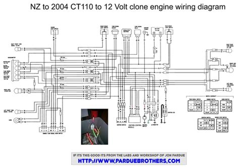 wiring diagram for a lifan conversion honda trail ct90