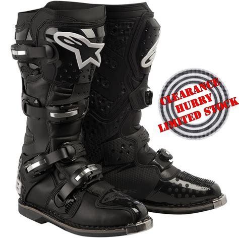 motocross boots clearance alpinestars tech 8 light mx motocross boots black 12 48