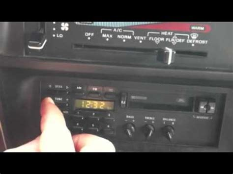 how to set a ford radio clock ford f150 1990