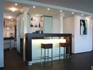 Wohnzimmer Mit Bar : k che als m belst ck ~ Michelbontemps.com Haus und Dekorationen