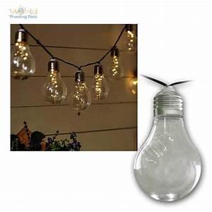 Led Lichterkette Draußen : led solar lichterkette gl hbirnen 50 leds warmwei klar ~ Watch28wear.com Haus und Dekorationen