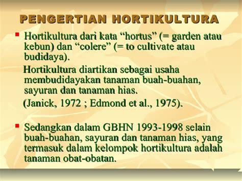 kapita hortikultura