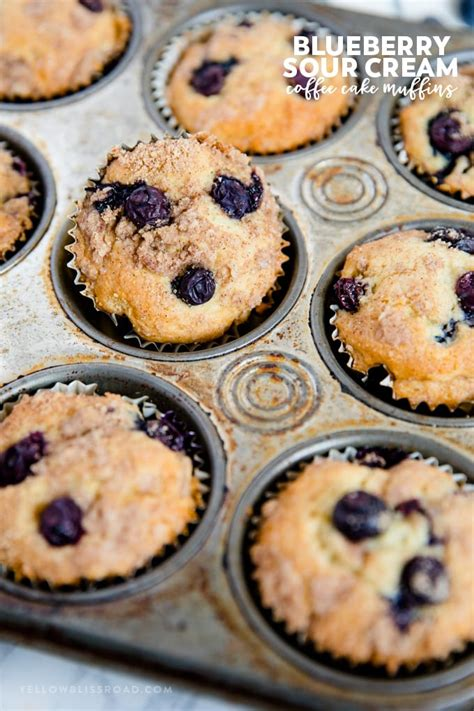 Blueberry coffee cake muffins makes 16 muffins. Blueberry Sour Cream Coffee Cake Muffins with Streusel Topping