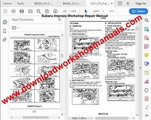 Subaru Impreza Workshop Repair Manual