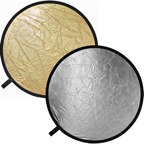 impact collapsible circular reflector disc goldsilver