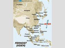 Karte von FERNOST ASIEN FERNOST ASIEN Karte auf