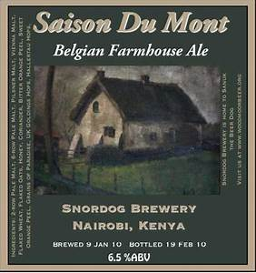 Snordog Brewery 2009 Labels