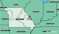 Where Is Area Code 314 / Map Of Area Code 314 / St. Louis ...