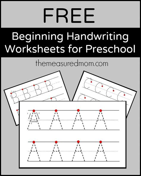 free beginning handwriting worksheets for preschool the 697 | Free beginning handwriting worksheets for preschool the measured mom