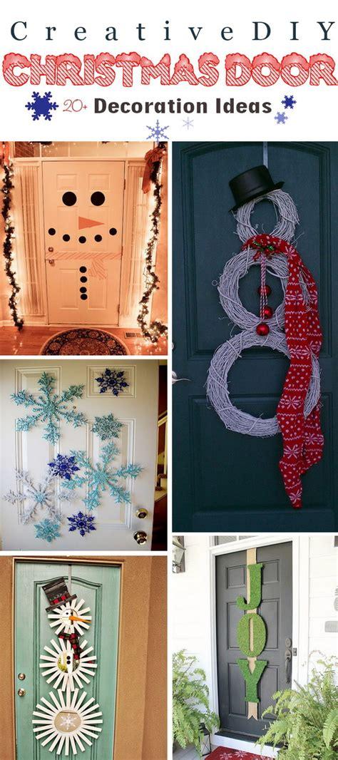 creative diy christmas door decoration ideas