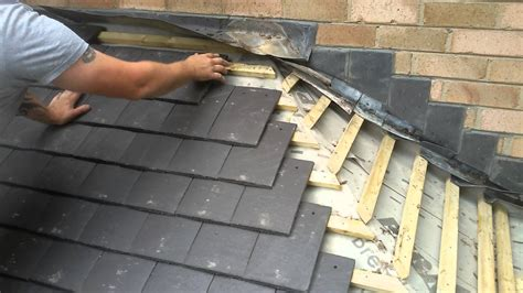 how to tile a porch roof in slate grey
